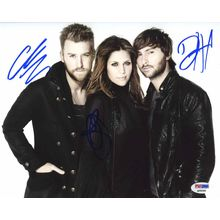 Lady Antebellum Signed 8x10 Photo Certified Authentic PSA/DNA COA