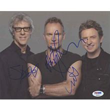 The Police Signed 8x10 Photo Certified Authentic PSA/DNA COA