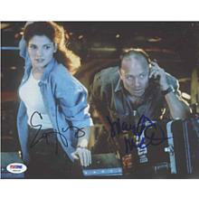 The Abyss Cast Harris and Mastrantonio Signed 8x10 Photo Certified Authentic PSA/DNA COA