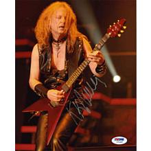 K. K. Downing Judas Priest Signed 8x10 Photo Certified Authentic PSA/DNA COA