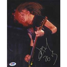 Jason Newsted Metallica Signed 8x10 Photo Certified Authentic PSA/DNA COA