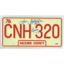 Catherine Bach The Dukes of Hazzard Signed License Plate Certified Authentic PSA/DNA COA