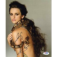 Penelope Cruz Snake Signed 8x10 Photo Certified Authentic PSA/DNA COA