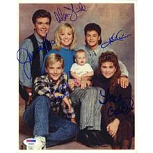 Growing Pains Cast by 5 Signed 8x10 Photo Certified Authentic PSA/DNA COA
