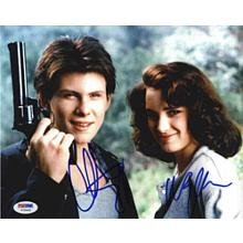 Heathers Cast Winona Ryder and Christian Slater Signed 8x10 Photo Certified Authentic PSA/DNA COA