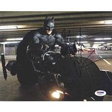 Christian Bale 'The Dark Knight' 'Batcycle' Signed 8x10 Photo Certified Authentic PSA/DNA COA