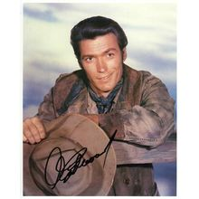 Clint Eastwood 'Rawhide' Signed 8x10 Photo Certified Authentic JSA COA