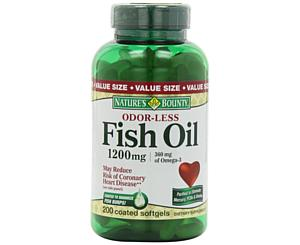 Fish Oil 1200mg Value Size, Omega 3, Odorless, 200-Count