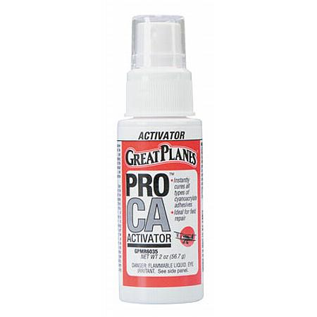 Pro CA Activator 2 oz w/Pump Foam Safe