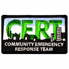 C.E.R.T. Embroidered 3''x 5'' Patch (10 per package)