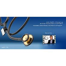 Stethoscope | MDF 777K MD One Stainless Steel Duel Head, Gold Edition