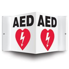 Wall Mount AED Sign