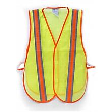 Safety Vest--Lime Green w/Reflective tape