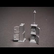 HO US&S Type Double Door Stacked Relay Cabinet
