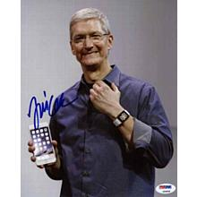 Tim Cook Apple Excellent CEO Signed 8x10 Photo Certified Authentic PSA/DNA COA