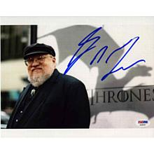 George R.R. Martin Game of Thrones Nice Signed 8x10 Photo Certified Authentic PSA/DNA COA