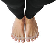 Yoga Toe Spreaders & Separators x2 Pair in Stylish Wooden Box | Awesome Toes! by YOGABODY™
