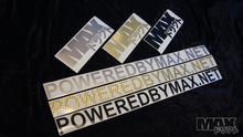 """MAX Logo Sticker 8"""" BRUSHED ALUMINUM $2"""