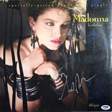 Madonna Signed 'Borderline' Record Album LP Certified Authentic PSA/DNA COA