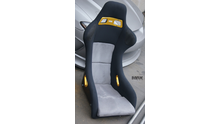 MAX BUCKET SEAT with SILVER belt parts