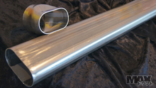 "Oval Pipe 304SS 1.5mm wall 2""x3.8"" 80CM length"