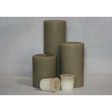 4 Inch Woodsy Saffron Pillar