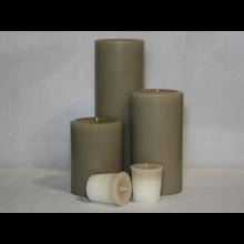 9 inch Woodsy Saffron Pillar