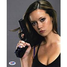 Summer Glau Sexy with Gun Signed 8x10 Photo Certified Authentic PSA/DNA COA