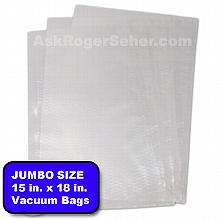 15x18 in. Vacuum Sealer Bags, 100 bags per box.
