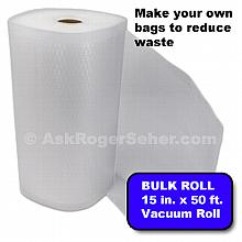 15 in. x 50 ft. Roll of Vacuum Sealer Bagging w/ Mesh Liner