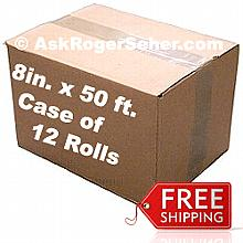 Case Pack of 12 Rolls of 8 in. x50 ft. Vacuum Sealer Bagging ** FREE Shipping **