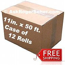 Case Pack of (12) Rolls of 11 in. x50 ft. Vacuum Sealer Bagging  ** FREE Shipping **