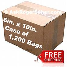 6x10 in. Vacuum Sealer Bags Case Pack of (1,200) bags