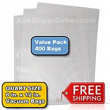 Value Pack of (400) 8x12 in. Vacuum Sealer Bags ** FREE Shipping **