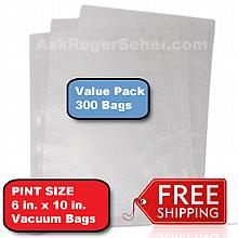 6x10 in. Vacuum Sealer Bags Value Pack (300) bags