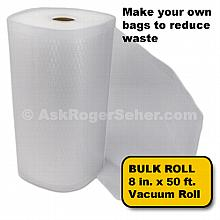 8 in. x50 ft. Roll of Vacuum Sealer Bagging w/ Mesh Liner