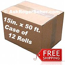 Case Pack of 12 Rolls of 15 in. x50 ft. Vacuum Sealer Bagging w/ Mesh Liner ** FREE Shipping **