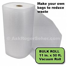 11 in. x50 ft. Roll of Vacuum Sealer Bagging w/ Mesh Liner
