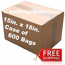 Case Pack of 600 15x18 in. Vacuum Sealer Bags ** FREE Shipping **
