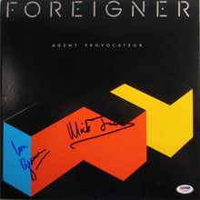 Foreigner Lou Gramm & Mick Jones Signed Record Album LP Certified Authentic PSA/DNA COA