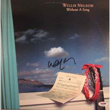 Willie Nelson Signed Record LP Album Certified Authentic PSA/DNA COA