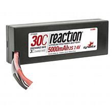 Reaction 7.4V 5000mAh 2S 30C LiPo Hard Case: EC3
