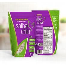 Salba Chia Organic Premium Whole Seed - 10.5oz/container - approx. 20 servings