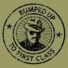 Bumped Up to First Class T-Shirt, Khaki Green