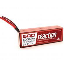 Reaction 11.1V 5000mAh 3S 50C LiPo, Hardcase:Deans