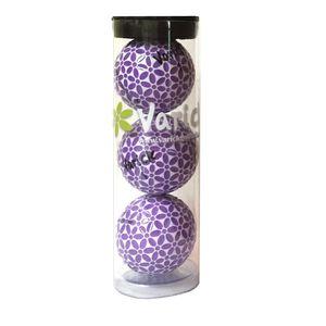 Tube of three Lavender on White Varick Golf balls