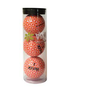 Tube of three Orange on White Varick Golf balls