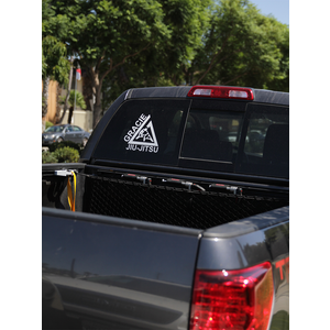 "(10x10.5"") Large White Triangle Thermal Dye Cut Sticker"