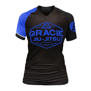 Gracie Blue Rank Short-Sleeve Rashguard (Women)