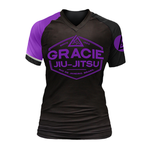Gracie Purple Rank Short-Sleeve Rashguard (Women)